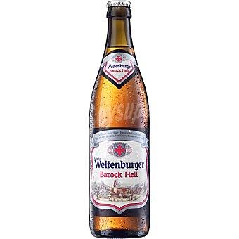 WELTENBURGER Barock Hell Cerveza rubia alemana Botella 50 cl