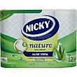 Papel higénico Aloe Vera extra suave 3 capas paquete 12 rollos paquete 12 rollos Nicky