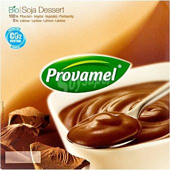 SANTIVERI PROVAMEL Bio Soya Dessert Postre de soja sabor chocolate Pack 4 tarrina 125 g