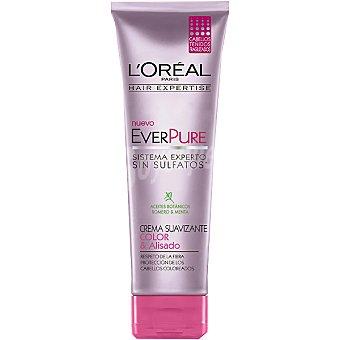 Solar Expertise L'Oréal Paris Crema suavizante everpure Color & Alisado con aceites botánicos romero y menta tubo 250 ml para cabellos teñidos y fragilizados Tubo 250 ml
