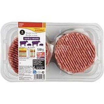 EROSKI basic burger meat Hamburguesa mixta Bandeja 510 g