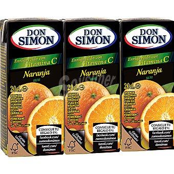 Don Simón Zumo de naranja y uva Pack 3 envases 200 ml