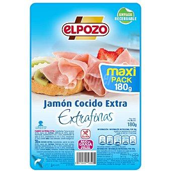 ELPOZO jamón cocido extra en lonchas finas envase 180 g