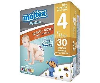 Moltex Pañales para niños de 9 a 15 kilogramos, talla 4 30 unidades