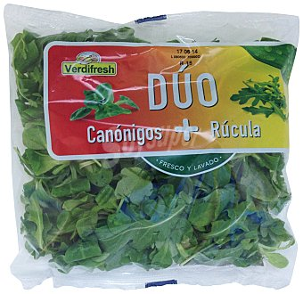 Verdifresh Ensalada duo canonigos y rúcula Bolsa 100 g