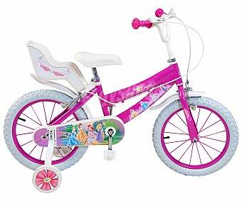 TOIMSA Bicicleta Infantil Princesas Disney 1 Velocidad 16 Pulgadas 1 Unidad