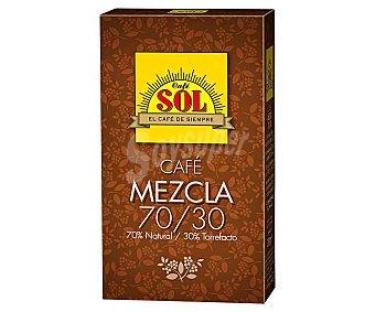 Sol Café mezcla molido , 70 % natural- 30 % torrefacto TIRMA 250 g. 250 g