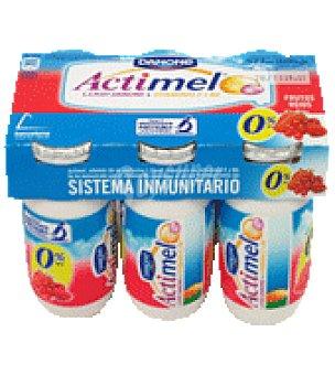 Actimel Danone Actimel 0% frutos rojos Pack de 6x100 g