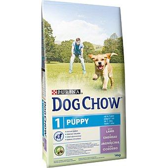 Purina Dog Chow alimento completo para cachorros hasta 1 año con cordero  envase 14 kg