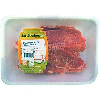 LA MONTAÑERA Aguja fresca de cerdo ibérico en filetes peso aproximado Bandeja 500 g