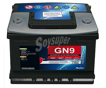GENIUM Batería de automóvil de 12v y 62 Ah, con potencia de arranque de 540 Amperios 1 unidad