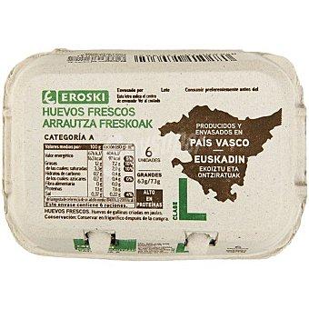 Eroski Huevo fresco L Pais Vasco 6 unid