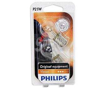 Philips Bombillas convencionales para automóvil, modelo P21W, potencia: 21W 2 Unidades