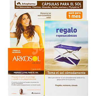 ARKOPHARMA Arkosol Advance Activador del bronceado, prepara la piel para el sol caja 30 cápsulas Caja 30 c