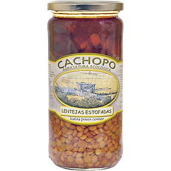 CACHOPO Lentejas estofadas ecológicas Frasco 700 g