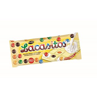LACASITOS Chocolate blanco con lacasitos  Tableta 100 g