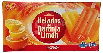 Hacendado Helado palo hielo (naranja 5 u - limon 5 u) Caja 10 u
