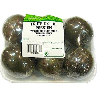 Fruta de la pasión peso aproximado bandeja 400 g 6 unidades