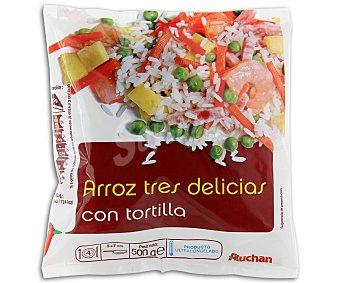 Auchan Arroz Tres Delicias con Tortilla 500g