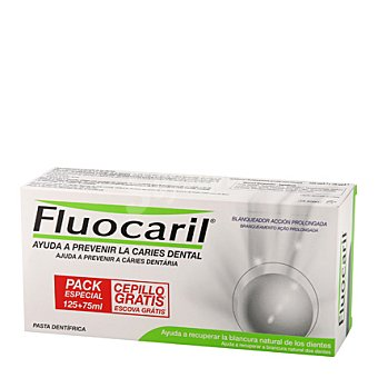Fluocaril Pasta dental blanqueador + regalo 125 ml