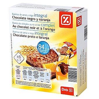 DIA Barrita cereales chocolate y naranja Caja de 6 uds (132 g)
