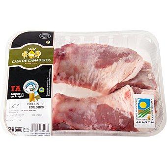 CASA GANADEROS Cordero ternasco de Aragón ecológico cuello peso aproximado Bandeja 600 g