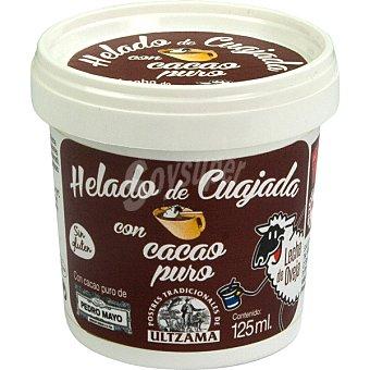 Ultzama Helado de cuajada con leche de oveja con cacao puro sin gluten tarrina 125 ml tarrina 125 ml