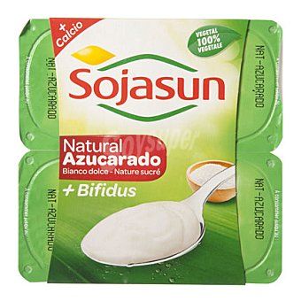 Sojasun Yogur natural azucarado Pack de 4x100 g