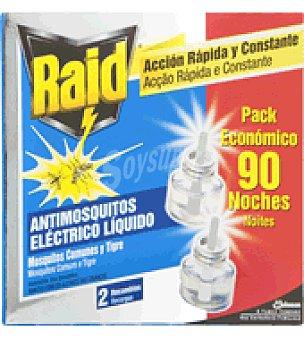 Raid Insecticida Electrico Liquido Recambio 2 recambios.