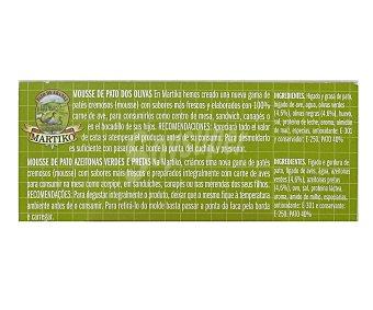 Martiko Mousse de pato 2 olivas 90 g