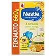 Papilla polvo 8 cereales con plátano naranja y galleta a partir de 6 meses Caja de 660 g Nestlé