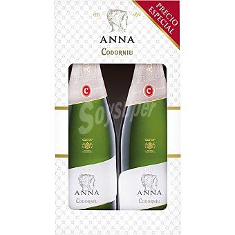 Anna de Codorníu Cava brut nature Estuche 2 botellas 75 cl Estuche 2 botellas 75 cl