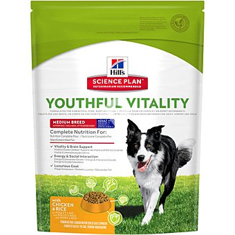 Youthful vitality pienso especial para perros medianos adultos +7 años con pollo y arroz