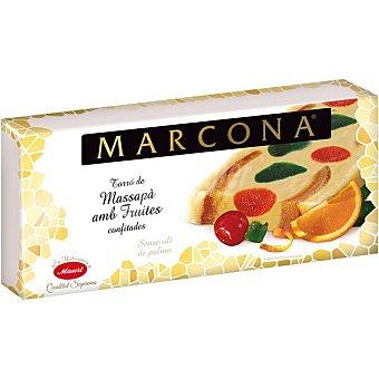 Marcona Turrón de mazapán con frutas confitadas Sin Gluten Calidad Suprema Tableta 250 g
