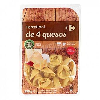 Carrefour Tortelloni de 4 quesos al huevo 250 G 250 g