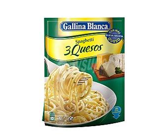 Gallina Blanca Pasta espaguetis con 3 quesos y gorgonzola Sobre de 175 g