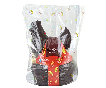 Productos Económicos Alcampo Figura gallina de chocolate negro + 9 Huevos praliné pascua 250 g