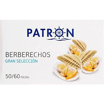 PATRON GRAN SELECCION Berberechos al natural 50-60 piezas lata 63 g neto escurrido Lata 63 g neto escurrido