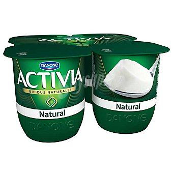 Activia Danone Yogur natural Pack 4 vasos x 120 g