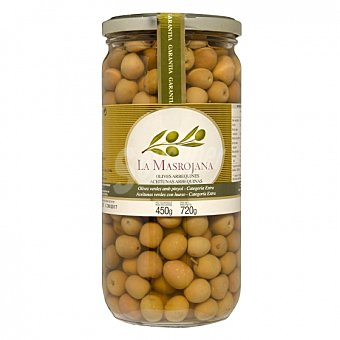 La Masrojana Aceitunas arbequinas verdes con hueso Tarro 450 g