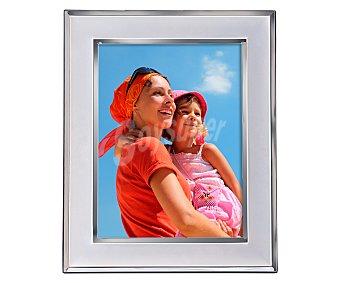 HOFMANN Portafotos metálico con los bordes en acabado brillante para fotografias de tamaño 15x20 1 Unidad