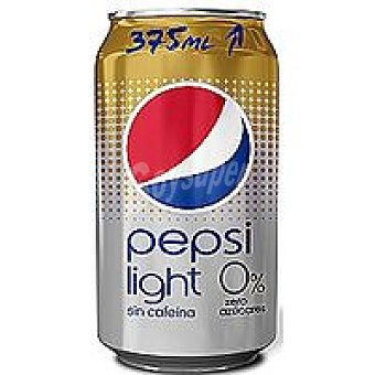 Pepsi Refresco de cola light sin cafeina Lata 37,5 cl