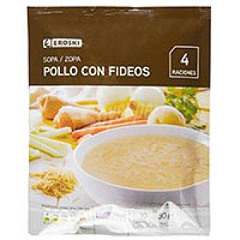 Eroski Sopa de pollo con fideos Sobre 80 g