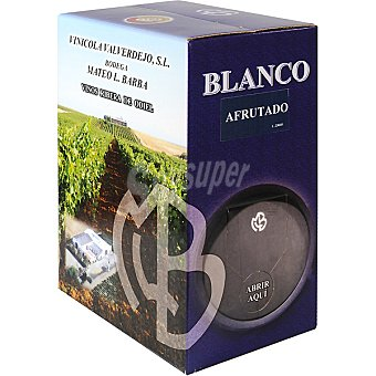 VALVERDE Vino blanco Andalucía afrutado bib 5 l