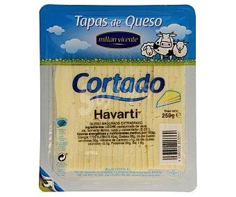 Millan Vicente Tapas de queso havarti cortado Envase 250 g