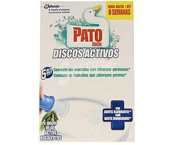 Pato Discos Gel WC Activos Brisa Nórdica 6 Unidades