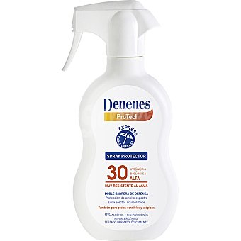 Denenes Spray protector solar FP-30 doble barrera de defensa resistente al agua tambien para pieles sensibles y atopicas Spray 300 ml