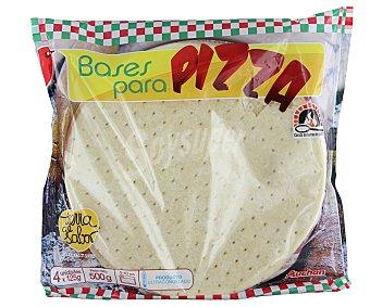 Auchan Bases de pizza cocida en horno de piedra 4 uds