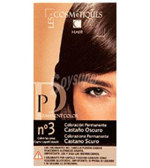 Les Cosmetiques Crema colorante permanente Castaño oscuro Nº 3 1 unidad