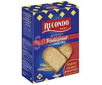 Recondo Pan tostado normal Paquete 270 g